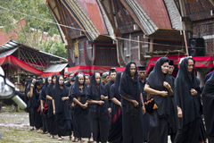 Women at Toraja Funeral Ceremony Royalty Free Stock Image
