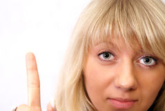 Free Women Touching Button Stock Image - 5383651