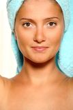 Women with towel Royalty Free Stock Photo
