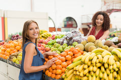 Women trading fruits Stock Photography
