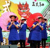 Women in Traditional Chinese Hakka Costumes Royalty Free Stock Image