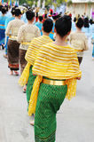 Women in traditional Thai dress Stock Photo