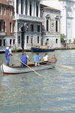 Women training gondoliers Royalty Free Stock Image