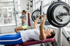 Women training in the gym Stock Photo