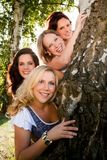 Women and the tree Royalty Free Stock Image
