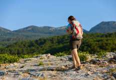Women trekking Stock Photography