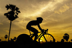 Women triathlon game in Thailand Stock Photography