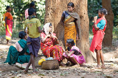 Women at the tribal rural weekly market Stock Image