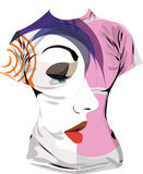 Women tshirt. Illustration of Abstract Women tshirt. Made in adobe illustrator Stock Photo