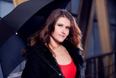 Women with umbrella. Stock Photos