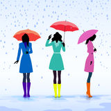 Women with umbrellas Royalty Free Stock Photo