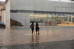 Women under the rain Royalty Free Stock Photos