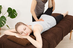 Women undergoing a massage Stock Photography