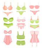 Women Underwear In Pastel Colors Matching Sets Royalty Free Stock Photos