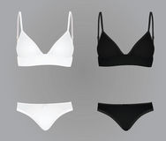 Women underwear white and black Stock Images