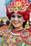 Women using carnaval costum stock images