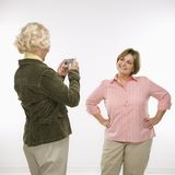 Women using digital camera. Royalty Free Stock Photo