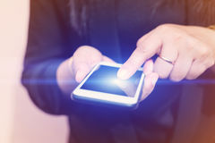 Women using smartphone Stock Photography