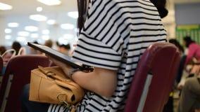 Women using smartphone. Thai asia women using smartphone with one hand stock video