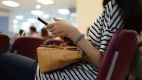 Women using smartphone stock video