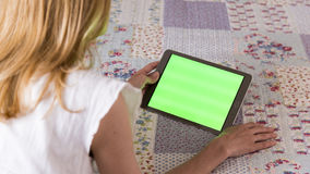 Women Using Tablet. At Home Royalty Free Stock Image