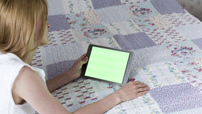 Women Using Tablet. At Home Royalty Free Stock Photos