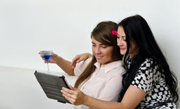 Women using tablet pc Stock Photos