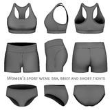 Women vector sportswear Royalty Free Stock Images