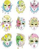 Women in Venetian carnival masks Royalty Free Stock Photos