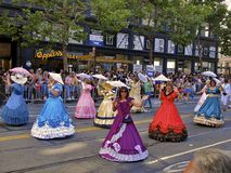 Women in Victorian Dresses at Gay Pride Stock Image
