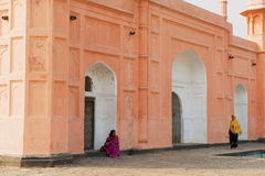Women visit mausoleum of Bibipari in Lalbagh fort in Dhaka, Bangladesh. Stock Photography