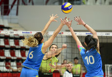 Women volleyball action Stock Photo