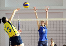 Women volleyball action Royalty Free Stock Photography