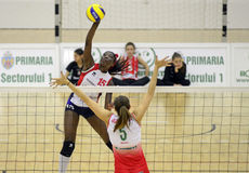 Women volleyball action Royalty Free Stock Images