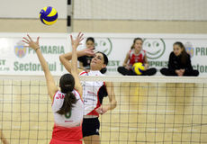 Women volleyball action Stock Photography