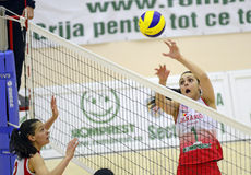 Women volleyball action Stock Images