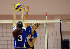 Women volleyball action Royalty Free Stock Photos