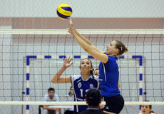 Women volleyball action Royalty Free Stock Image