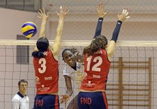 Women volleyball attack Stock Image