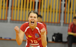 Women volleyball extra league, Katarina Frimagnska Stock Photography