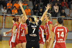 Women volleyball extra league, team Frydek-Mistek Royalty Free Stock Photos