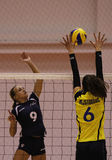 Women volleyball players in action Royalty Free Stock Images