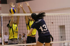 Women volleyball players in action Royalty Free Stock Image