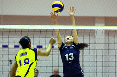 Women volleyball players in action Royalty Free Stock Photos