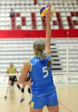 Women volleyball serve Stock Images