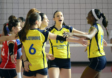 Women volleyball win reaction Royalty Free Stock Photography