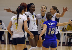 Women volleyball winning reaction Royalty Free Stock Photography