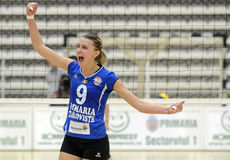 Women volleyball winning reaction Royalty Free Stock Images