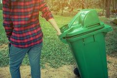 Women volunteer help garbage collection charity. Stock Image