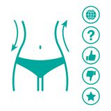 Women waist and web icons menu. Vector illustration vector illustration